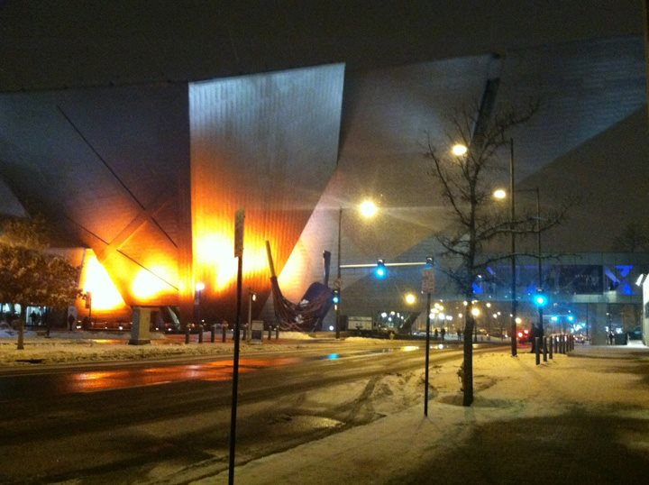 Denver Art Museum Lit in Orange